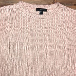 Forever 21 Sweaters - 💓🍁 Fuzzy Warm Fall Sweater Light Pink Rose NWOT